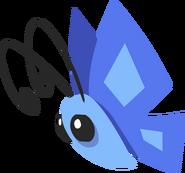 Pet butterfly blue