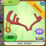 Deer Antlers (Red)