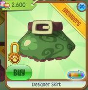 Designer Skirt (Green)