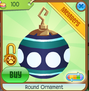 Shop Round-Ornament Dot-Blue