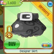 Designer Skirt (Black-Gray)