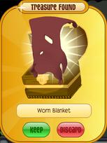 Meet-Cosmo Elephant Worn-Blanket Red