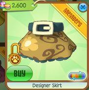 Designer Skirt (Yellow)