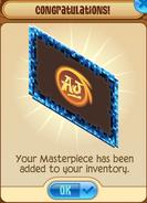 Masterpiece Blue-Pixel-Frame Added