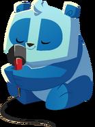 Panda with microphone
