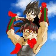 Bardock and vegeta by nuooon-d38lgr4