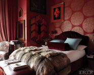 Glam-red-bedroom