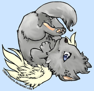 Winged Wolf Cub Color by feELwiCKed922