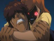 Red Eyed Orihime attacks Chad