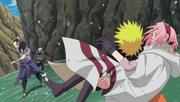 Naruto saves Sakura