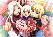 Iris, Illya, and Saber Fate Zero Valentine's Day