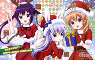 Is the Order a Rabbit (Dengeki G January 2016) Cocoa, Chino, and Rize