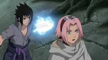 Sasuke attacks Sakura