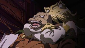 Akame ga Kill Ep02 Leone killing Gamal