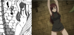 Fairy Tail Ep 238 and Ch 365 Erza Censorship