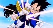 Vegeta kneed gohan in the stomach
