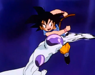 Frieza after punching gt kid goku in the stomach6