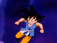 Frieza about to punch gt kid goku in the stomach 0