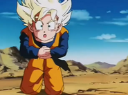 Goten feeling to his knees