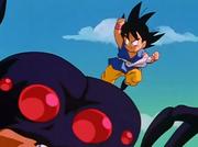 Gt kid goku vs giant spider
