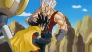 Baby vegeta kneed hero in the stomach