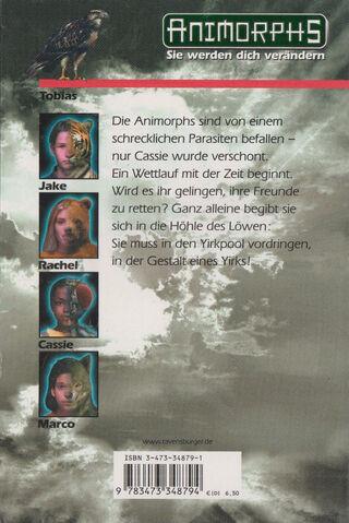 File:Animorphs 29 the sickness Der Parasit back cover.jpg