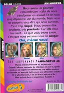 Animorphs 40 the other Les Survivants french back cover folio junior