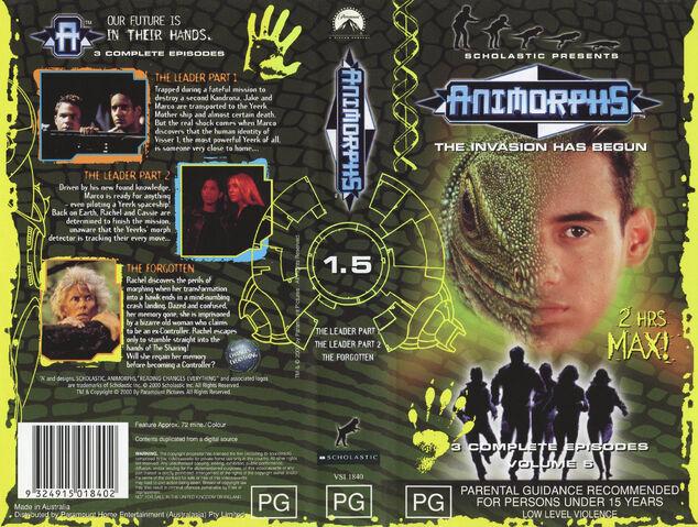 File:Animorphs VHS 1.5 Australian volume front back spine the leader the forgotten.jpg