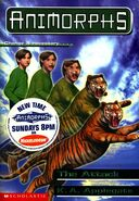 Animorphs 26 the attack front cover with tv sticker