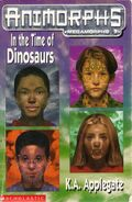 Animorphs uk time of dinosaurs front cover scan