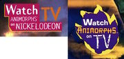 Comparison of both watch animorphs on tv book logos