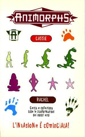 File:Animorphs 43 the test la prova italian stickers adesivi.jpg
