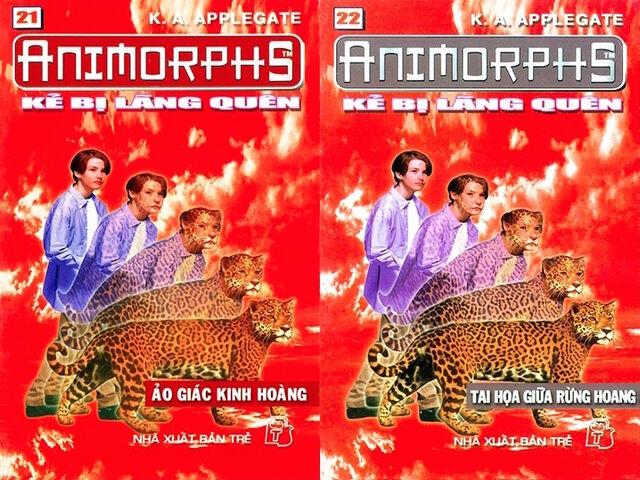 File:Animorphs 11 the forgotten Kẻ bị lãng quên vietnamese covers books 21 and 22.jpg