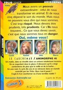 Animorphs 41 the familiar Le Cauchemar french back cover folio junior