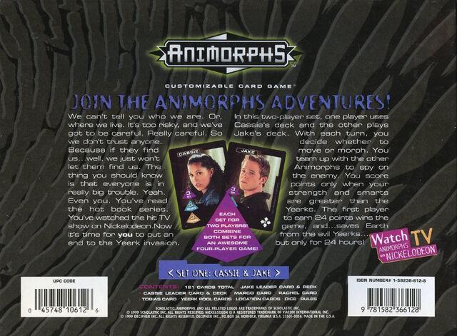 File:Animorphs customizable card game Set one Cassie Jake box back.jpg