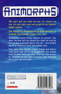 Animorphs 1 the invasion UK earlier printing back cover