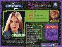 Animorphs VHS Australian 1.4 inside fact file Rachel