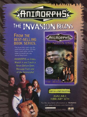 File:Animorphs VHS Part 1 advertisement from Nickelodeon Magazine March 1999.jpg