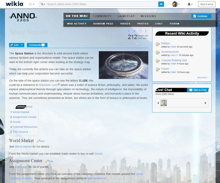Anno wiki header color