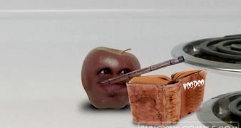 Little apple with blowdart