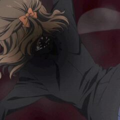 Yukari drowns in her own blood.