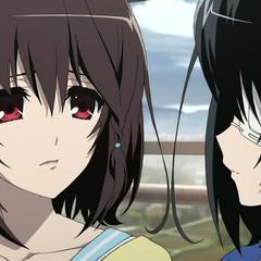 Misaki near to cry.