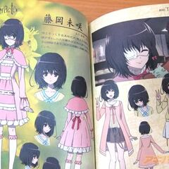 Misaki's profile in a magazine.