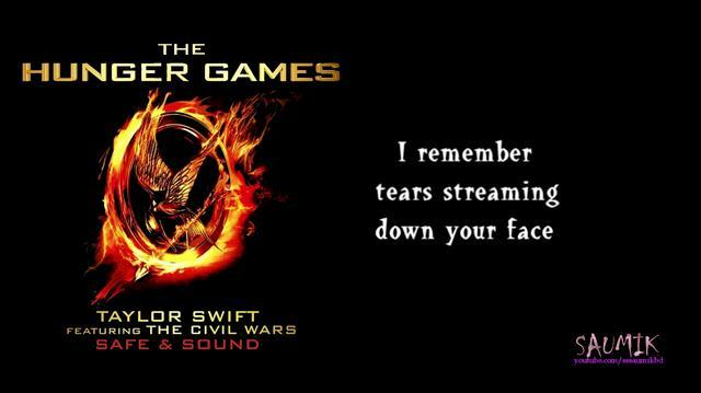 Lyrics Taylor Swift - Safe and Sound The Hunger Games