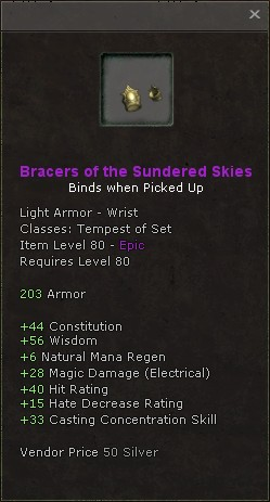 Bracers of the sundered skies
