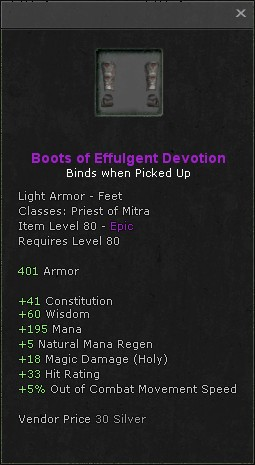 Boots of effulgent devotion