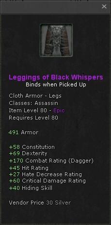 Leggings of black whispers