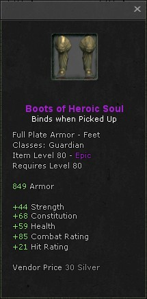Boots of heroic soul
