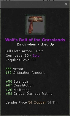 Wolfs belt of the grasslands