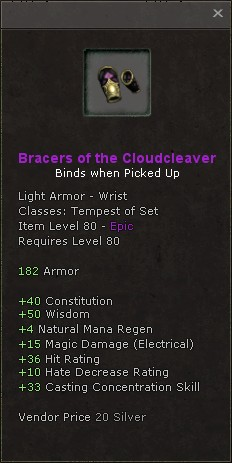 Bracers of the cloudcleaver
